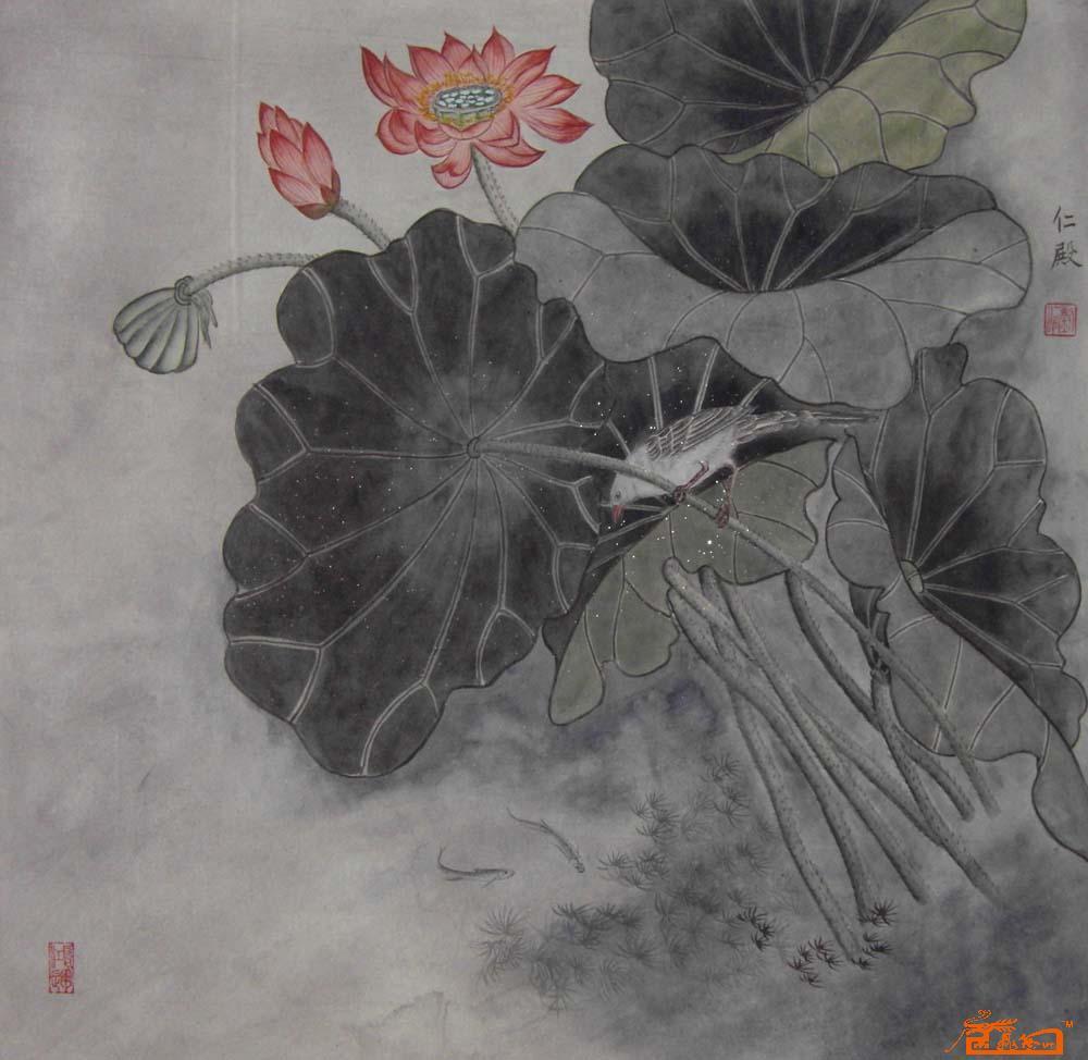 刘仁殿-工笔-淘宝-名人字画-中国书画服务中心,中国,.